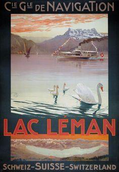 Compagnie Générale de Navigation - Lac Leman - 1900 - (Mario Borgoni) -