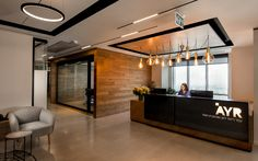 Setter Architects has designed the new offices of law firm AYR located in Bnei Brak, Israel. AYR is a leading law firm, consisting of a young and dynamic Law Office Design, Office Reception Design, Corporate Office Decor, Modern Office Design, Office Interior Design, Office Interiors, Office Designs, Corporate Offices, Office Ideas For Work