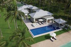 La Lagune (Bang Kao, Koh Samui), the last word in a Tropical Beachfront Escape with private tennis court and bright stylish contemporary designs.