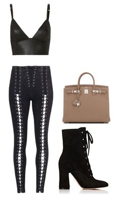 """""""Untitled #13"""" by joselynromero-i on Polyvore featuring T By Alexander Wang, Hermès and Gianvito Rossi"""