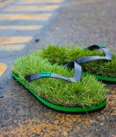 Lleva la naturaleza contigo a todas partes. Sandalias Grass Flip Flops de Kusa