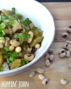 Hoppin' John - We love this New Year's dish staple with creamy, buttery black-eyed peas and steamed rice. PS: It's also delicious any other time of the year, too. Slow Cooker Recipes, Crockpot Recipes, Cooking Recipes, Yummy Recipes, New Year's Food, Food N, Healthy Grains, Healthy Eating Recipes, Healthy Food