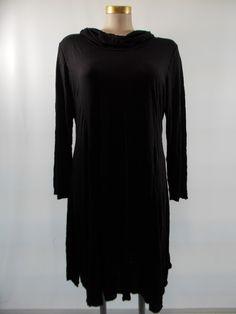Chalet - Crinkle Black Cowl Neck Caroline Dress