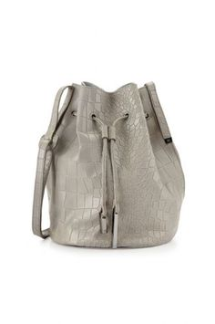 f99c66225294 30 Bucket Bags To Carry Everywhere. City Casual Croc-Embossed Bucket Bag