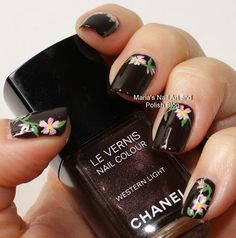 Flowers in the western light #nailart #nails