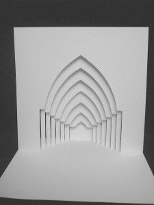 """This kirigami, Arches, is created with great detail and designed by an italian artist. It is great to be used for creating pop up cards or invitations."""