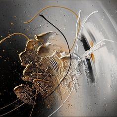 Hatsya tableau abstrait moderne contemporain peinture acrylique en relief