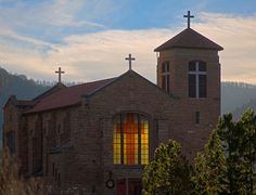 MESCALERO , NEW MEXICO -CHURCH. My babe works here everyday restoring the church.