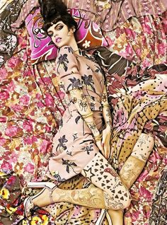 Vogue Italia---Steven Meisel in 2007 -Spring Patterns Issue.