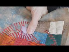 ThreadCrumbs — Three Heavenly Components Video showing running stitch in progress Fiber Art Quilts, Textile Fiber Art, Embroidery Art, Embroidery Stitches, Textiles, Fabric Yarn, Sewing Art, Running Stitch, Quilting Tutorials