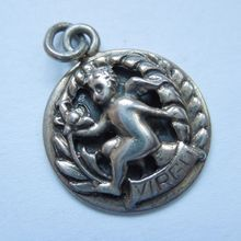 Vintage Cini Sterling Silver Virgo (the Maiden) Zodiac Charm..