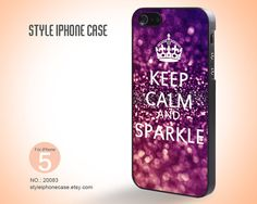 iPhone 5 Case  Sparkle Keep Calm and Sparkle by StyleiPhoneCase, $12.99