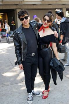 Here is Greaser Girl Outfit Ideas Collection for you. Greaser Girl Outfit Ideas greasers vs socs greaser outfit the outsiders Greaser Couple Costume, Greaser Halloween Costume, Biker Girl Costume, Girl Greaser Outfit, Greaser Style, Couples Halloween, Cute Couple Halloween Costumes, Halloween Outfits, 50s Costume