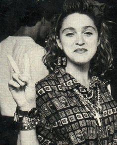 Rare 80's pic #Madonna