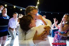 John shows some love to Karen, one of the many awesome people at the Hayden Lake Country Club that helped make Tim and John's wedding day great. #wedding #idaho #haydenlake #reception #dancing #fun #appreciation #workershavefuntoo
