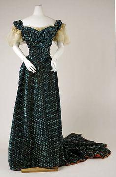 Evening Dress  Jean-Philippe Worth, 1898-1899  The Metropolitan Museum of Art