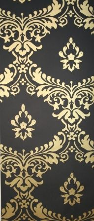 1000 images about opulence on pinterest palaces for Black and gold wallpaper for walls
