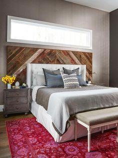 This custom barn-wood headboard warms up John Colaneri's master bedroom // #hgtvmagazine // http://www.hgtv.com/design/decorating/design-101/inside-john-colaneris-expertly-designed-home-pictures?soc=pinterest