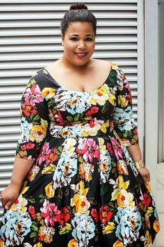 442a4c78272 Pretty in Floral 2 Plus Size Fashion Dresses