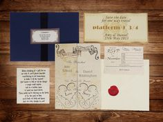 handmade harry potter wedding invitations by Bypersonalrequest