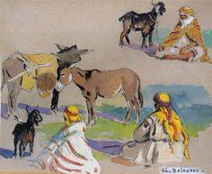 Etude orientaliste von Edouard Edmond Doigneau