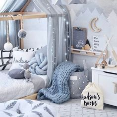 Is this not the most magical room? So many beautiful goodies compiled into one a. ♡ Is this not the most magical room? So many beautiful goodies compiled into one amazing room! I spy our gorgeous little wooden rabbit by Oyoy sitting p. Baby Bedroom, Baby Boy Rooms, Kids Rooms, Bedroom Decor, Baby Room Decor For Boys, Baby Boy Bedroom Ideas, Room Kids, Boy And Girl Shared Room, Bedroom Lighting