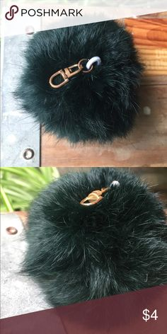 puff-ball kaychain Lightly used dark hunter green puff keychain! Accessories Key & Card Holders