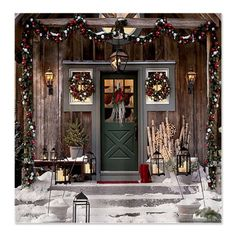 Christmas Decorative scene Shower Curtain