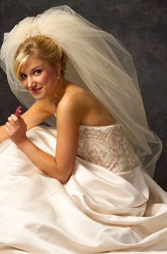 Double Bubble Wedding Veil JL Johnson V4900 - Many colors to choose from! - Affordable Elegance Bridal -