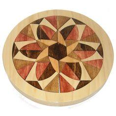 Mosaic Wooden Mandala Tray Puzzle - Positively Negative