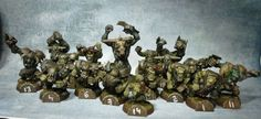 Blood Bowl bloodbowl TEAM converted ORC ORQUE pro painted x 16 Blood Bowl Teams, Warhammer Fantasy, Bb, Gaming, Videogames, Game