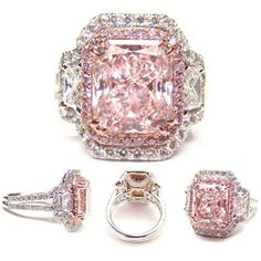 4.03ct fancy light pink (Flawless) diamond ring