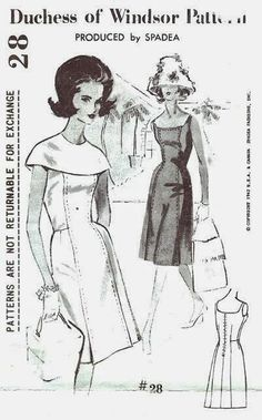 When Wallis Simpson Wasnt Busy Being One Of The Most Glamorous Women In World She Found Time To Design Sewing Patterns For Spadea