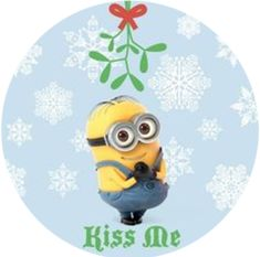 "Kiss Me Minion 2.25"" Round Button"