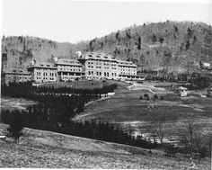 Grove Park Inn.  Early days,  I don't know when. It looks so different without the big wings on the side! #groveparkinn
