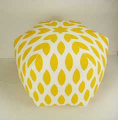 Jumbo 34 Wide Ottoman Pouf/Pouffe Pillow Stool by Zeldabelle, $225.00