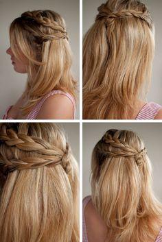Wedding hair (half up, half down) The braids! yes! @Sidney Chiu Vegh @Suna Anunciação Maidaniuc