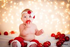 6 month old baby christmas photo