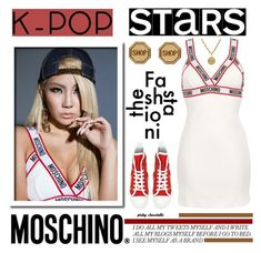 """""""CL - Favorite K-Pop Superstar: 04/07/16"""" by pinky-chocolatte ❤ liked on Polyvore featuring Moschino"""