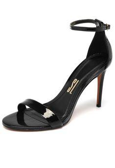 Sandália Santa Lolla Salto Fino Preta - Marca Santa Lolla Stuart Weitzman, Kitten Heels, Shoe Bag, Sandals, Bags, Outfits, Shoes, Products, Fashion