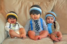 PICK YOUR FAVORITE - Baby Boy Tie Bodysuit or Shirt with Suspenders and matching hat  - Holiday, Baby Shower, Photo Prop