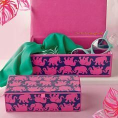 Lilly Pulitzer Glass Storage Box in Tusk in Sun