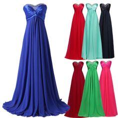 CHEAP-Plus-Size-Wedding-Party-Bridesmaid-Evening-Prom-Long-CHIFFON-BEADED-Dress
