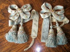 """part of a set of 4 tie back from the Place of Versailles ca.1860-70. Measurements: overall length 11"""", width across bow 7""""  Price: USD $450.- Each pair. """"ONE PAIR SOLD"""""""