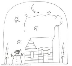 Old_Thyme_Christmas_Doodle_Booklet_Cabin_notext.jpg (721×654)