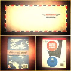 Vintage is never out of style! Real retro airmail notepads and envelopes.