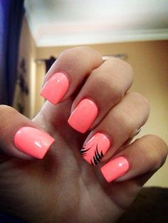 Orange nails.