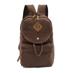 7ea9872ca3 MATMO Canvas Chest Bag Couples Backpack for Men and Women (Coffee)