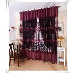 Mordern Room Floral Tulle Window Curtain Fabric Screening Curtain Drape Scarfs Valances Curtains For Living Room Balcony Curtains, Cheap Curtains, Drapes Curtains, Floral Curtains, Curtain Patterns, Curtain Designs, Pattern Curtains, Curtain Accessories, Bedroom Accessories