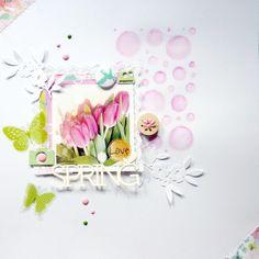 Spring layout (Studio Calico/ Basic Grey/American Crafts/Kesi Art)